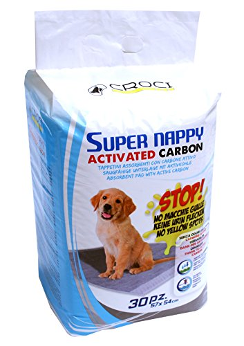 Croci C6028172 Super Assorbenti per Pannolini Assorbenti con Carbone Attivo per Cani