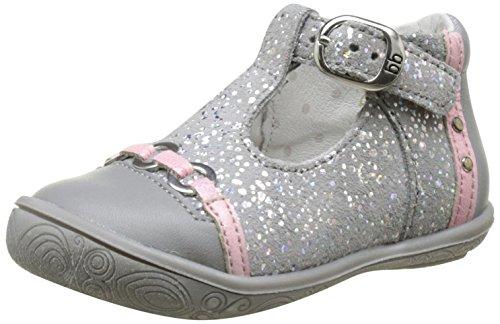 babybotte - Savana, Pantofole a Stivaletto Bambina Grigio (Gris/Rose)