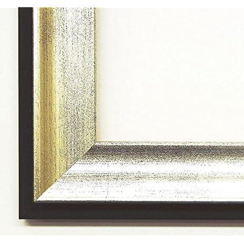 Specchio da parete specchio da bagno corridoio specchio appendiabiti–su taglie 200–weißenburg-gunzenhausen di Monaco argento, schiena velluto vernice nero 3,0, Dimensioni esterne dello specchio, argento, DIN A0 (84,1 x 118,9