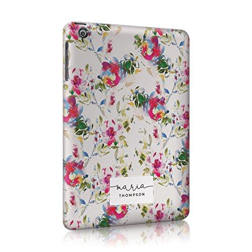 Personalisierbar Floral Blumen Shabby Chic Streifen Linien Polka Früchte Wassermelone Zitronen Gestreift Sommer Fall Hard Cover Custom tirita Initialen 07 iPad Mini 2