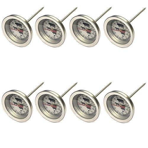 8 Stück Kerntemperatur Thermometer 13 cm Grill Braten Steak Backofenthermometer