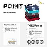 Point Saunatuch / Badetuch | viele Farben wählbar | 80 x 200 cm Baumwolle Frottee Handtuch | aqua-textil 0010684 türkis - 6