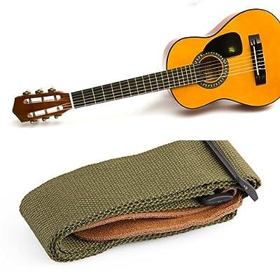 Correa Bandolera Cuero Algodón para Guitarra Eléctrica Acústica Bajo por Bsuper mart