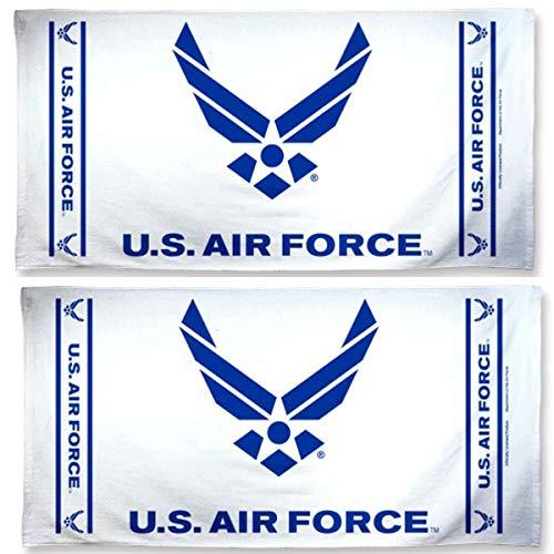 Wincraft U.S Air Force Strandtuch, 68,6 x 127 cm, 2 Stück Logo Military Sweatshirt