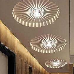 Bazaar LED 3w blanc / blanc chaud couloir de lumière au plafond en aluminium balcon pendentif lampe lustre luminaire