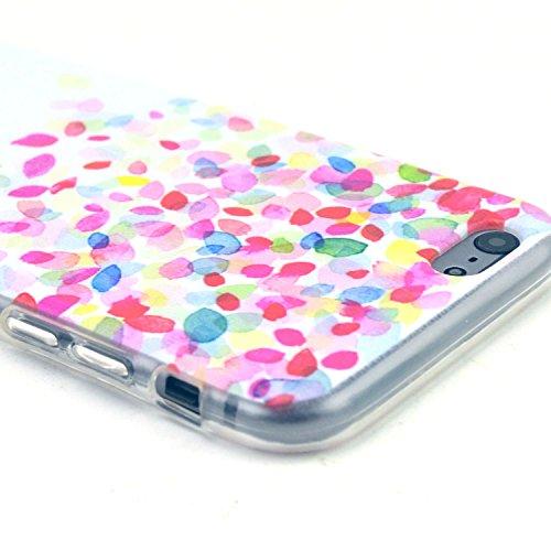 Etche TPU Housse pour iPhone 5C,Étui Coque Housse Pour iPhone 5C,coloré imprimé couvercle du boîtier de caoutchouc de silicone pour iPhone 5C + 1x Bleu style + 1x Bling poussière plug (couleurs aléato Pattern #8