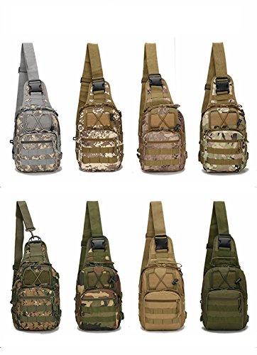 Mcdobexy Leggera Borsa A Tracolla Spalla Militare Tattico Fionda Zaino Taschino Edc Per Gli Sport Allaria Aperta Campeggio Trekking Cp