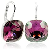 Ohrringe mit Kristallen von Swarovski® Silber Violett - NOBEL SCHMUCK
