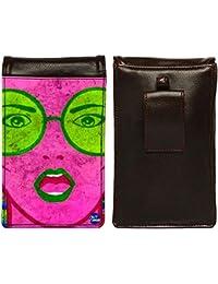 Nutcase Designer Travel Waist Mobile Pouch Bag For Men, Fanny Pack With Belt Loop & Neck Strap-High Quality PU... - B075N2XV61
