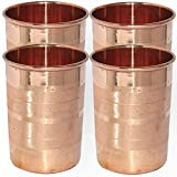 Dakshcarft ® Handmade Pure Copper Tumbler Glass, Set of 4 Glasses