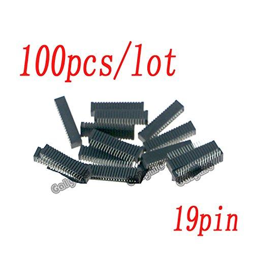 100Pcs/Lot Hot Sale für PS2Controller ableitfähige Film 18pin 19pin Block Anschluss Sockel Spiel Konsole Ersatzteile Merhfarbig 19 Pin (Block Sockel)