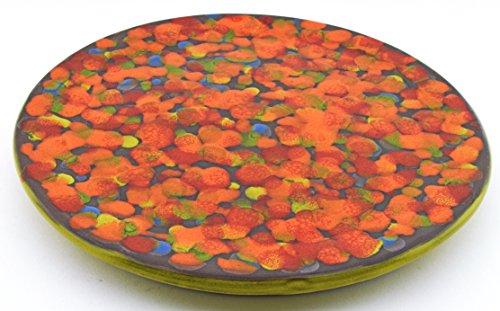Art Escudellers Geschirr aus Keramik handgefertigt und Handbemalt mit Dekoration XISPEJAT grün. 97710.v - Untersetzer, 23 cm (Keramik Handgefertigtes Geschirr)