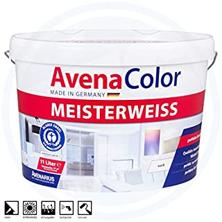 Avena Color Meisterweiß Innenfarbe Wandfarbe 11 Liter matt 77m² Farbe weiß