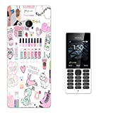 003594 - Girly Stickers Pink Design Microsoft Nokia 216