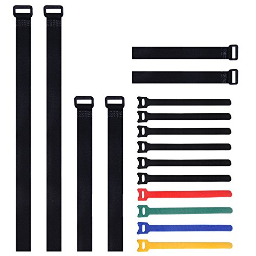 mudder-multipurpose-adjustable-hook-and-loop-securing-straps-and-fastening-cable-ties-16-pack