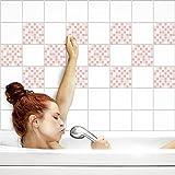 Fliesenaufkleber für Küche und Bad   Fliesenfolie für 20x20cm Fliesen   Mosaik Rosé glänzend   56 Stück   Klebefliesen günstig in 1A Qualität von PrintYourHome