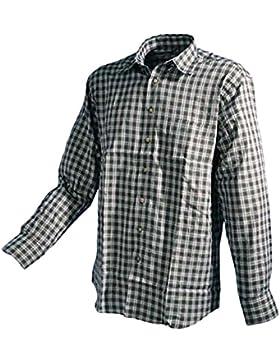 Trachtenhemd oliv-rot-weiss Karo Langarm GCM Sports