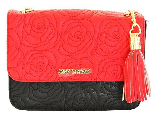 Betsey Johnson , Damen Umhängetasche Einheitsgröße, rot (rot) - BB17295 (Umhängetasche Johnson Betsey)