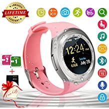 Smart Watch,Teléfonos Inteligentes Reloj Inteligente Bluetooth Smart Watch Reloj Inteligente Hombre Mujer Niño Reloj Deportivo Con Cámara Soporte SIM / TF para Android/IOS