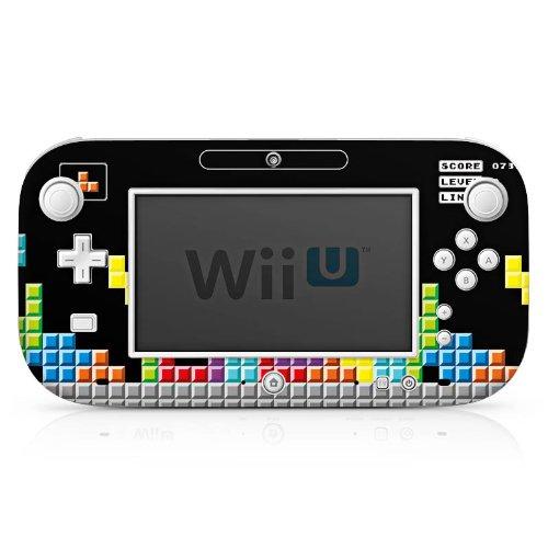 Nintendo Wii U Gamepad Case Skin Sticker aus Vinyl-Folie Aufkleber Spiel 8-Bit Tetris Bunt