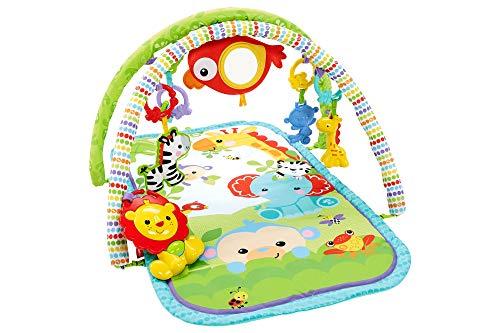 Fisher-Price Gimnasio musical animalitos de la selva, manta de juego bebé Mattel CHP85