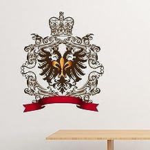 DIYthinker Doppeladler Emblem Mittelalterliche Ritter Von Europa  Entfernbarer Wand Aufkleber Kunst Abziehbilder Wand