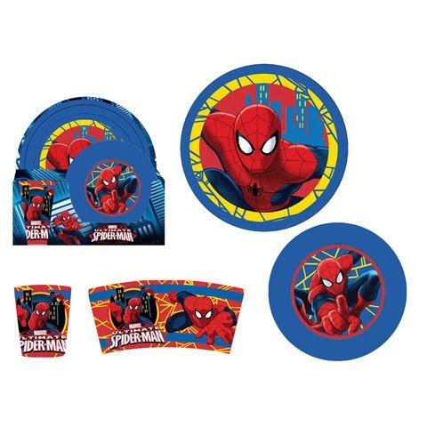 Arditex sm8985–Set petit-déjeuner de 3pièces, motif Spiderman