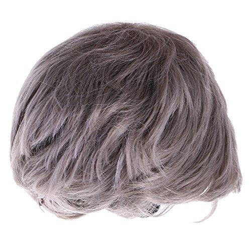 ton Farbverlauf Langes Haar Perücken für Maskerade Party/Weihnachten/Cosplay - Grau Kurz (Billig Und Einfach Fancy Dress)