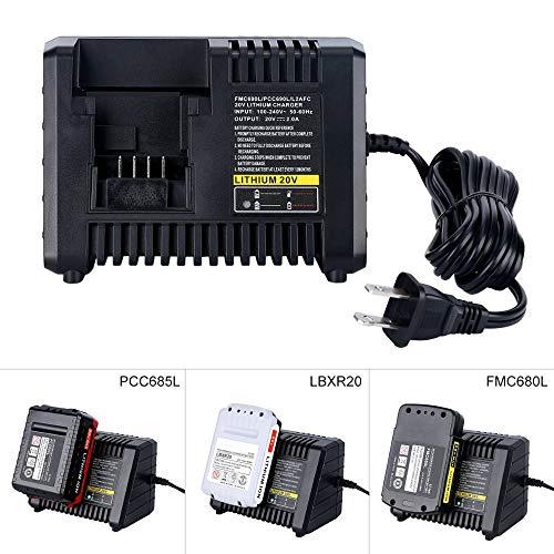 Chargeur de batterie pour outil électroportatif 3 en 1 pour Black & Decker pour câble de porteur pour chargeur de batterie au lithium-ion Stanley 20V LBXR20 FMC680L