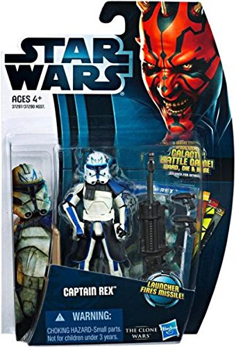 Hasbro Star Wars CW13 Captain Rex in Phase II Armour and Firing Cannon