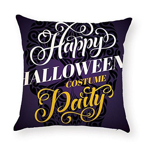 Unbekannt sunone11Englisch Wort Kunst Zitate Happy Halloween-Kostüm Party Skull Kissenbezüge 43,2x 43,2cm für Couch Sofa Kissen Fall Kissenbezug, quadratisch Displayschutzfolie