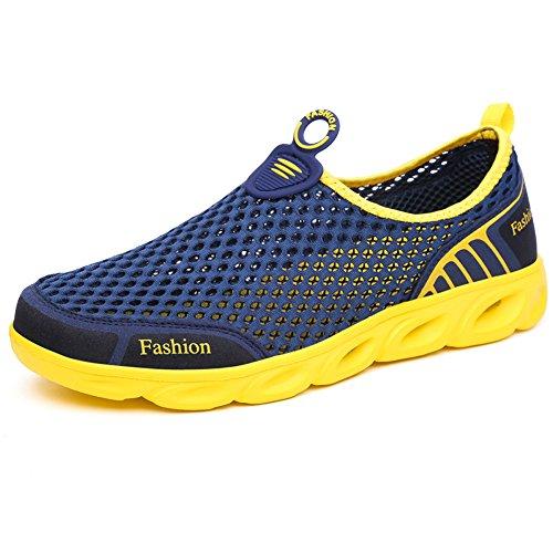 Le scarpe da acqua traspirante Trampolieri scarpe leggere Uomini Donne Sandali Dark Blue