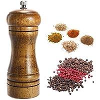 AOLVO Grind Gourmet - Molinillo de Sal y Pimienta (cerámica, Apto para Ingredientes granulares, Pimienta Negra, Sal Marina y Sal del Himalayo, Especias de Pimienta y Sal, tamaño Profesional)
