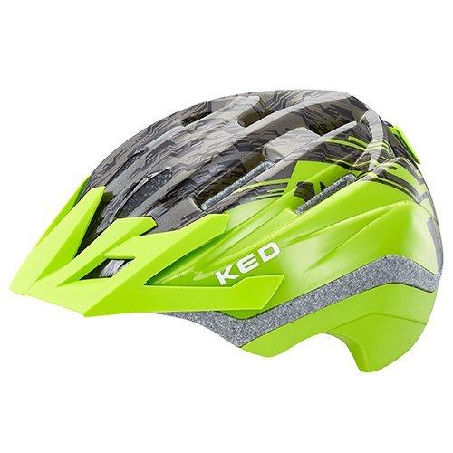 KED Fahrradhelm Dera in der Größe S/M (Kopfumfang 49-55 cm) mit der Farbe Green Black, Extrem Gut Belüfteter Allrounder-Helm in Robuster maxSHELL- Technologie und...
