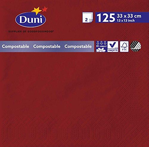Duni 1803812lagig Tissue Servietten, 33cm x 33cm, bordeaux (2000Stück) - Wirtschaft Tissue-papier