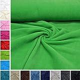 MAGAM-Stoffe ''Paula'' Fleece-Stoff Uni von allerbester Qualität | 15 Farben | Antipilling | Kinder-Stoff | Meterware ab 50cm (06. Grün)