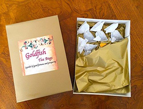 Thé Cadeau Lot de 9Poisson Rouge sachets de thé Tisane, thé, idée de cadeau, Tea Party, cadeau unique, Fantaisie sachets de thé