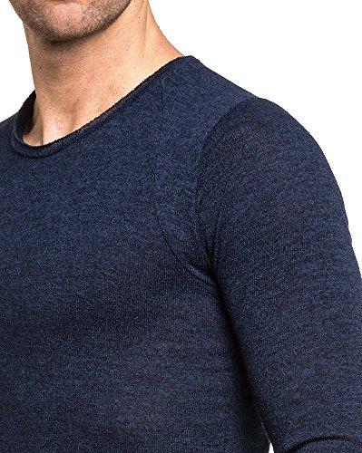 Celebry tees - Pull bleu homme oversize stylé Bleu