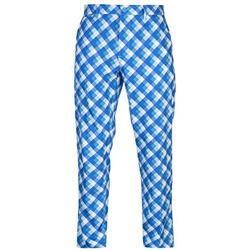 Slazenger Hombre Print Pantalones De Golf Bright Check