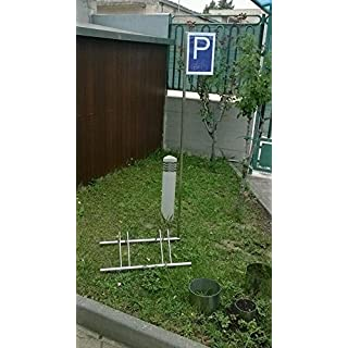 INOXLM Parking Rack Carrier Stainless Steel 2Seater with Sign Indicative