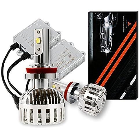 LED Lámparas de Los Faros Kit, AFTERPARTZ® XH-6 - 72W 12000LM 6000K Xenon Blanco CREE Linterna de Conversión con Más Nuevos XHP-50 LED Chips - Garantía Año 2 (H7)