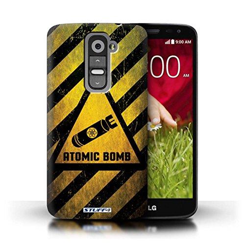 Kobalt® Imprimé Etui / Coque pour LG G2 Mini/D620 / Feu/Inflammable conception / Série Signes de Danger Bombe Atomique