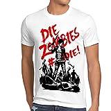 style3 Die Zombie Herren T-Shirt Walking Horror Dixon The Halloween Dead, Farbe:Weiß, Größe:4XL