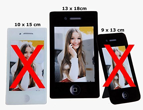Cepewa 27647 Apple iPhone Bilderrahmen Glasbilderrahmen Fotorahmen Standrahmen für 13x18 cm Fotos Iphone Bilderrahmen