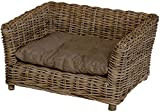 korb.outlet Rattan dog basket with cushion/Size L in De