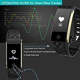Willful SW328 Fitness Tracker mit Pulsmesser – Wasserdichte Fitness Armband Puls Armband Aktivitätstracker Schrittzähler Uhr mit Schlafmonitor Kalorienzähler Vibrationsalarm Anruf SMS Whatsapp Beachten mit iPhone Android Handy kompatibel - 3