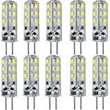 KINGSO 10x G4 1.5W LED Bulbs Cool White 20W Halogen Bulb Equivalent Omnidirectional 24 SMD 3014 DC 12V 6000K 195LM Spotlight Lamp Super Bright Energy Saving