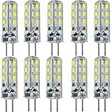 KingSo 10x G41,5W LED-Leuchtmittel kaltweiß entspricht einer 20-W-Halogenlampe omnidirektionales Licht 24SMD 3014DC 12V 6.000K 195 lm Strahler, Super-Hell, Energiesparend