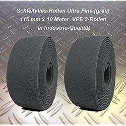 HaTec Schleifvlies-Rolle Ultra-Fine grau VPE 2-Rollen 115 mm x10 Meter P600-800, Schleifvlies / Schleifvliesrolle / Schleifvlies-Edelstahl / Schleifvlies-Holz