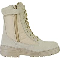 Desert Army Combat Patrol Side Zip Tactical Boots Military Lightweight Suede Leather Tan Jungle